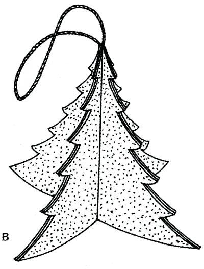 Tělor strom z papíru & # 8212; Schémata a šablony vytvořit vánoční strom s vlastními fází rukou 3