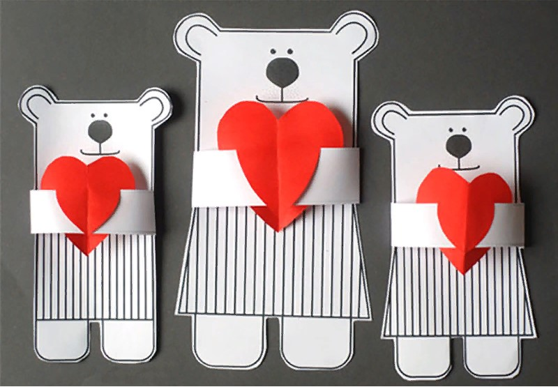 वेलेंटाइन डे के लिए DIY इसे अपने बच्चों के लिए करें: 14 फरवरी चरण 27 को शिल्प के सबसे सुंदर विचार