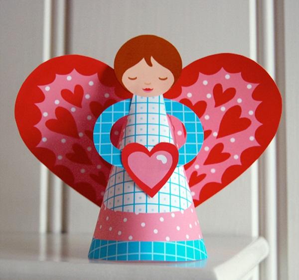 वेलेंटाइन दिवस के लिए DIY बच्चों के लिए अपने हाथों के साथ: 14 फरवरी चरण 32 को शिल्प के सबसे सुंदर विचार