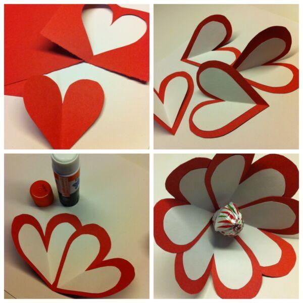 वेलेंटाइन डे के लिए DIY इसे बच्चों के लिए करें: 14 फरवरी चरण 34 को शिल्प के सबसे सुंदर विचार