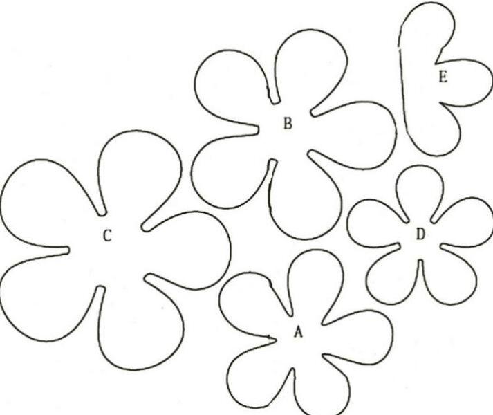 Paper Flowers & # 8212; Mga scheme at mga template para sa paglikha ng mga kulay ng papel na 139.