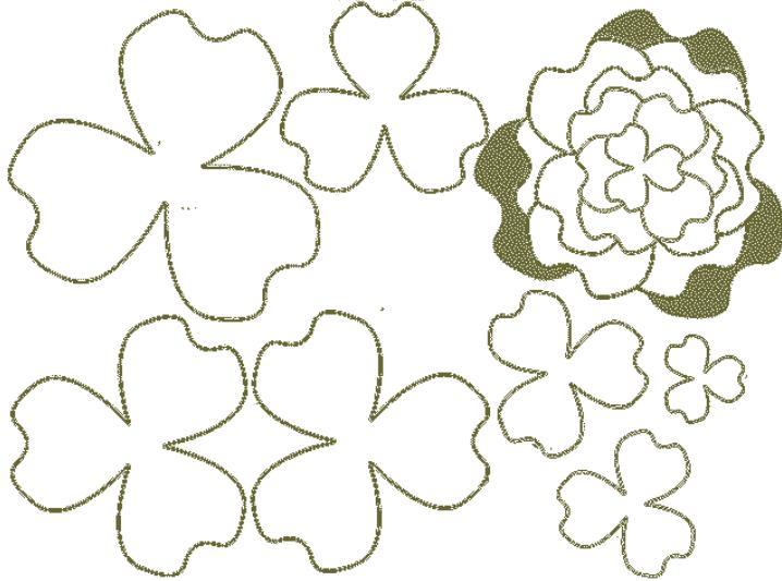 Paper Flowers & # 8212; Mga scheme at mga template para sa paglikha ng mga kulay ng papel na yugto 142.
