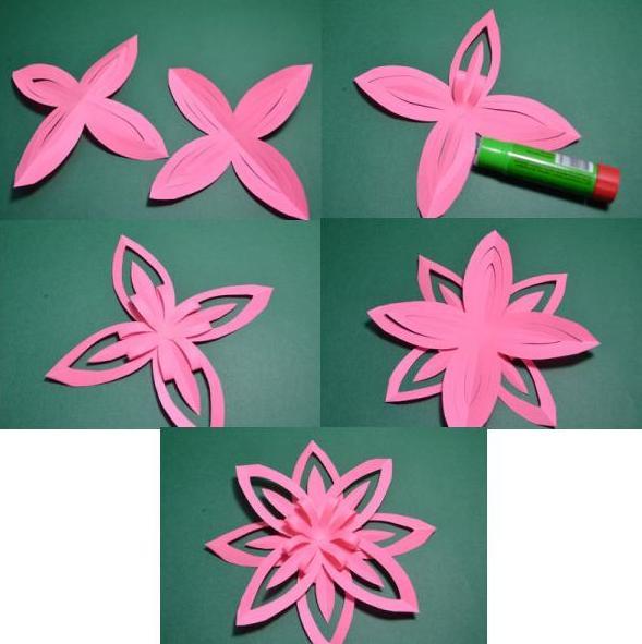 Paper Flowers & # 8212; Mga scheme at mga template para sa paglikha ng mga kulay ng papel na yugto 13.