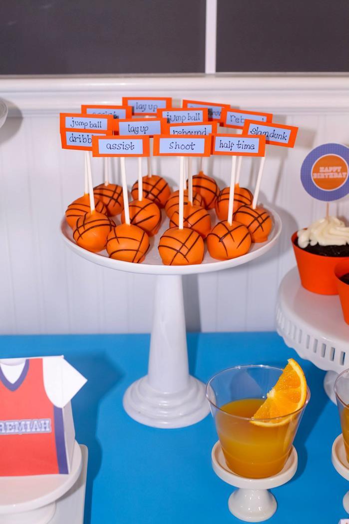 Basketball Themed Baby Shower Favors