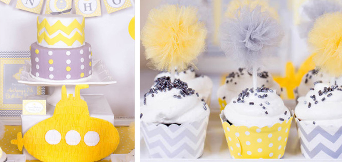 Yellow And Grey Baby Shower Ideas