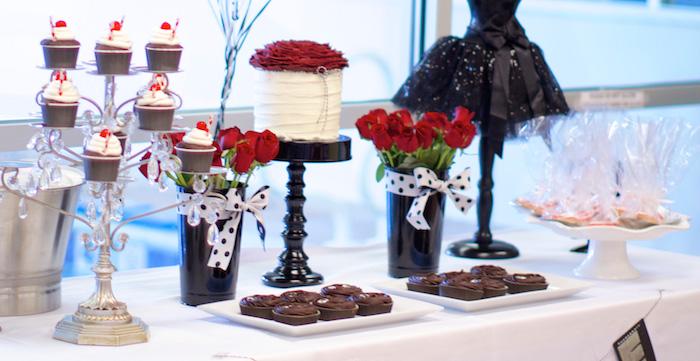 Kara S Party Ideas Black White Red Elegant Birthday Party