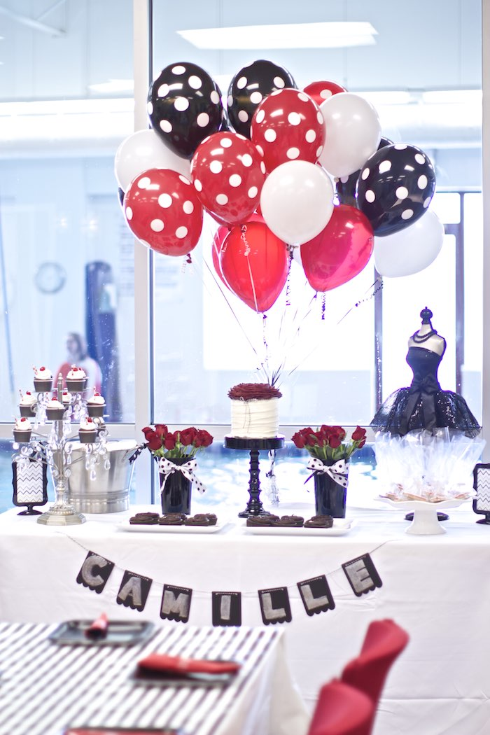 Red White And Black 60th Birthday Party Decorations