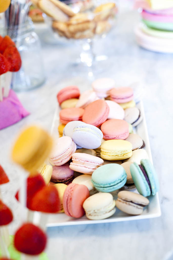 Kara S Party Ideas Sweet Macaron Themed Birthday Party