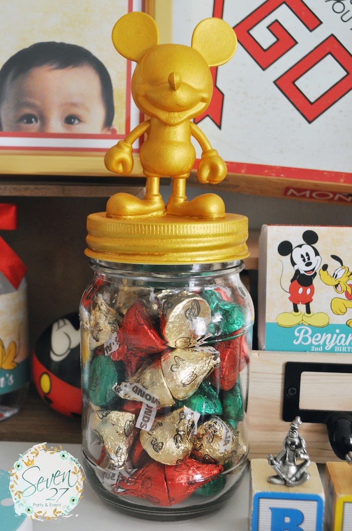Kara S Party Ideas Vintage Mickey Mouse Themed Birthday