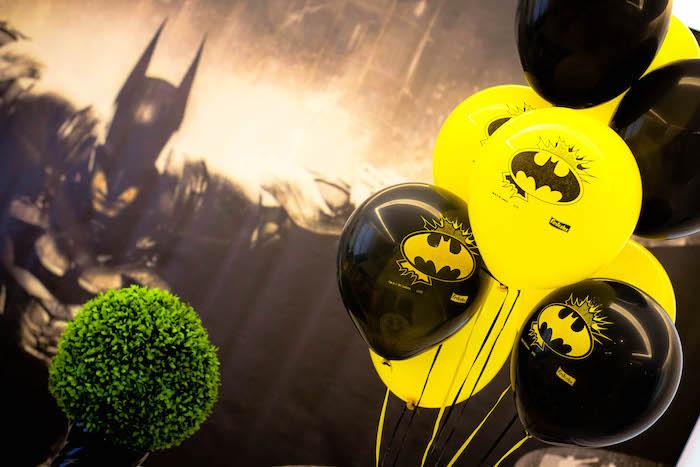 Kara S Party Ideas Black And Yellow Batman Birthday Party