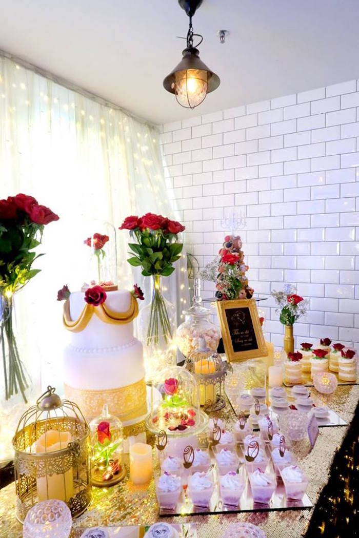 Kara S Party Ideas Beauty And The Beast Inspired Wedding