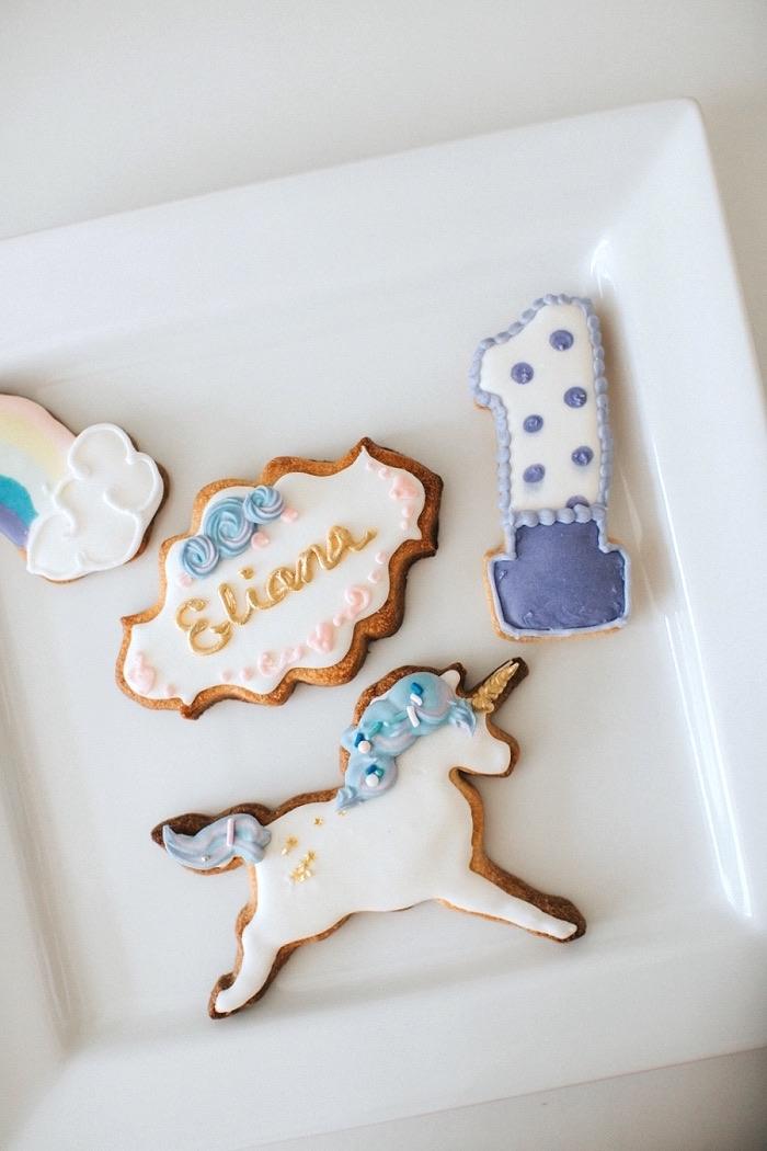 Kara S Party Ideas Unicorns Rainbows And Clouds Birthday