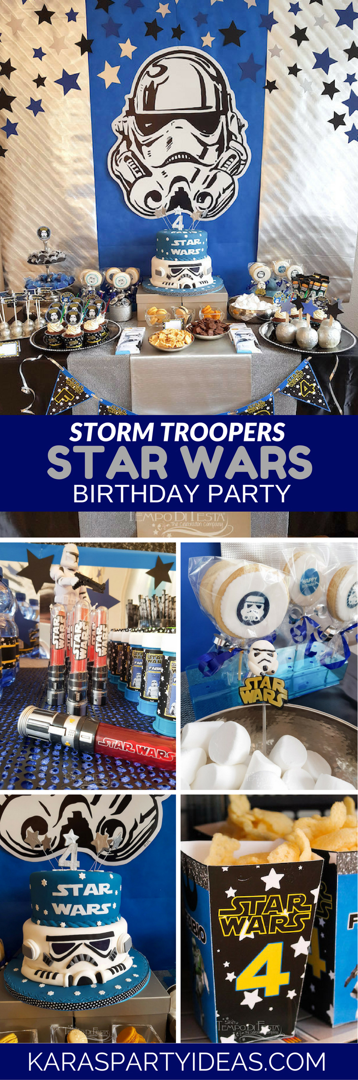 Kara S Party Ideas Storm Trooper Star Wars Birthday Party