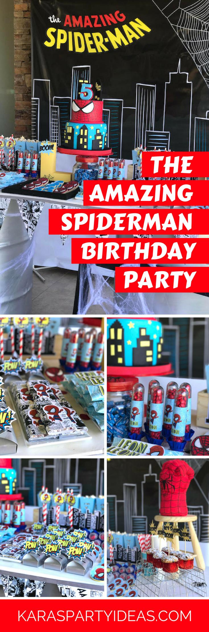 Kara S Party Ideas The Amazing Spiderman Birthday Party