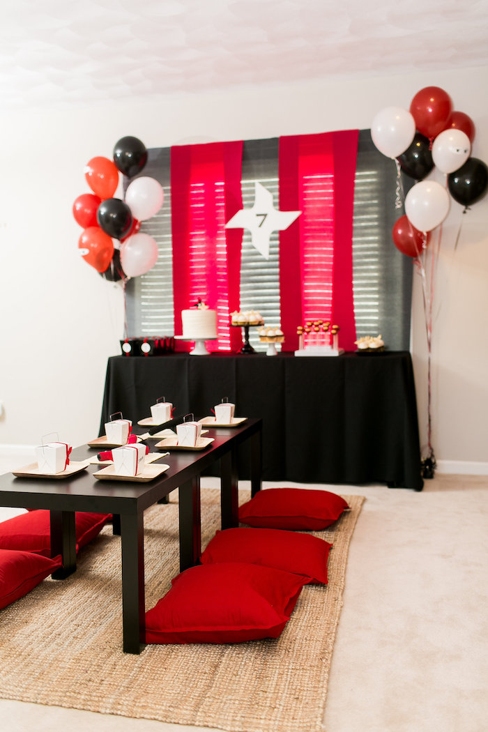 Black White Red Birthday Party Ideas
