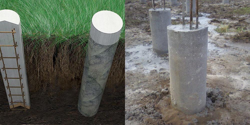 Monolitisk forstærket betonfundament