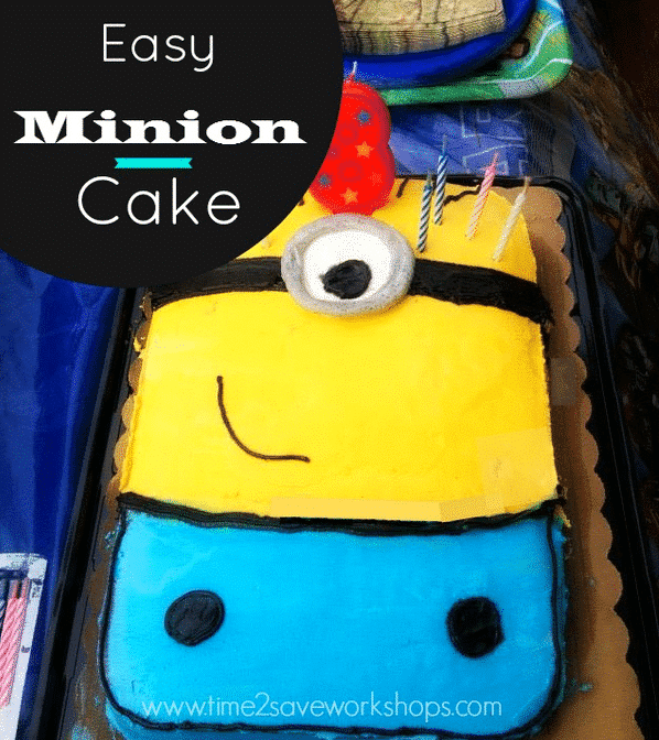 Easy Minion Birthday Cake No Special Pan Needed Kasey