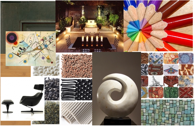 Principles and Elements of Interior Design   grapevine design     elements of design  Color Line Shape Form Texture Material
