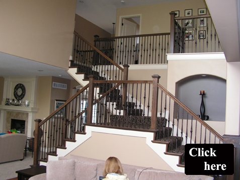 Iron Spindles Gallery Kc Wood | Wrought Iron Staircase Spindles | Basement Stair | Rot Iron | Outdoor | Wooden French Country Newel Post | Foyer