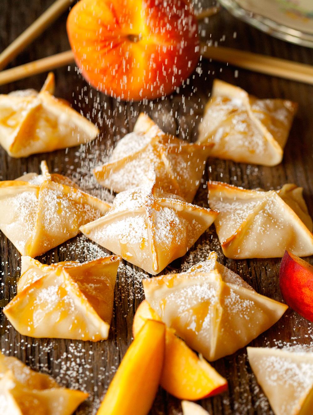Baked Peach Wontons Keeprecipes Your Universal Recipe Box