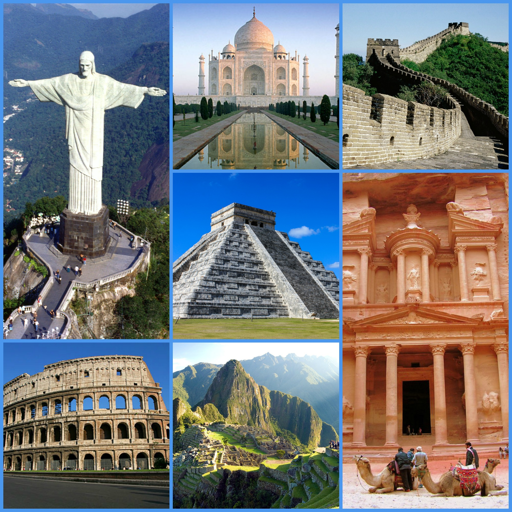 the seven wonders of the world - HD 2000×2000