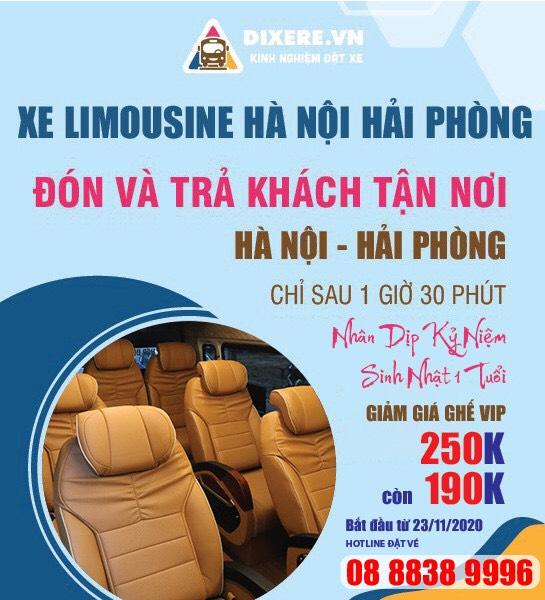 Top 19 Nhà xe limousine Hà Nội Hải Phòng cao cấp giá rẻ tốt nhất