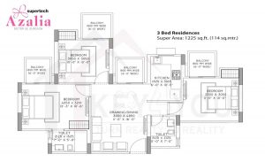 Supertech Azaliya Floor Plan