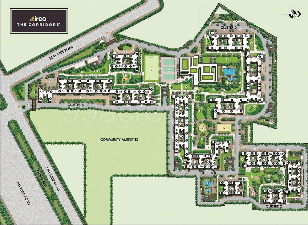 Ireo the corridors site plan