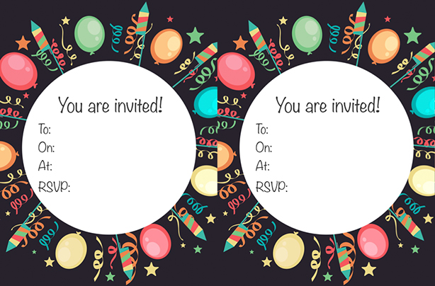 Printable Invitations 12 Year Olds