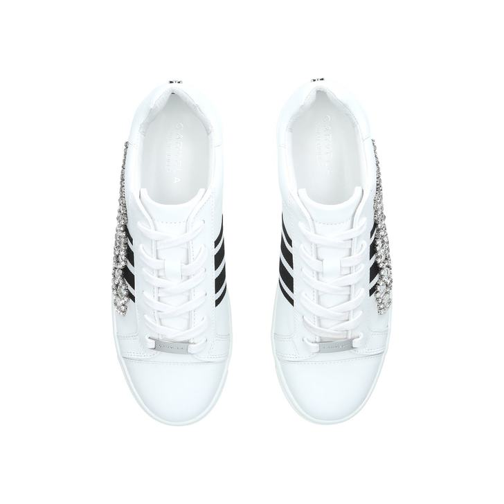 Lustre White Low Top Trainers By Carvela   Kurt Geiger LUSTRE      LUSTRE      LUSTRE      LUSTRE