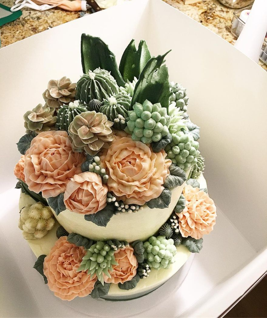 succulent wedding cake  16    KickAss Things succulent wedding cake  16
