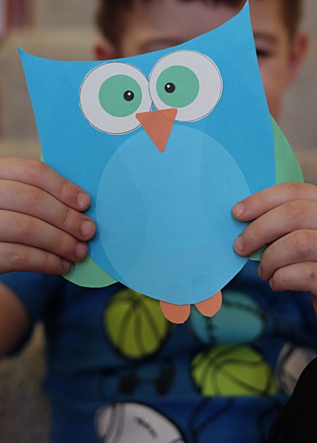 Super cute printable owl craft choose pink or blue, coloring pages i love you mom