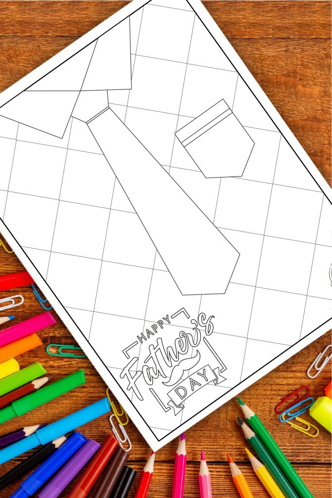 Diy tie gift dad fathers day coloring pages, i love dad coloring pages