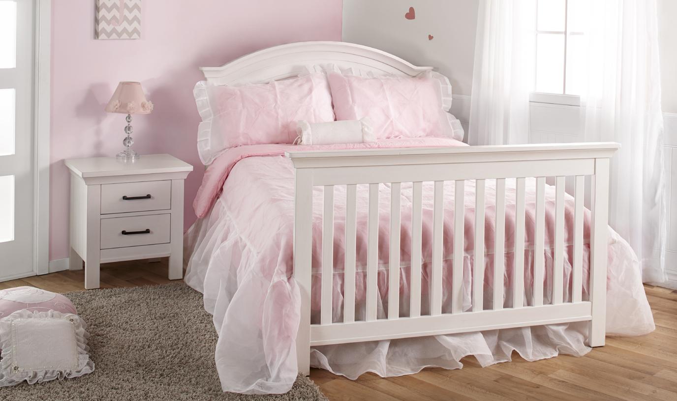 Cleo Lifetime Convertible Crib Vintage White Amp Distressed