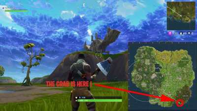 Fortnite Battle Royale where to find the llama, crab and ...