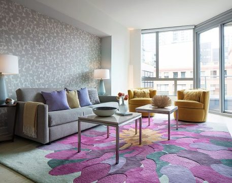 Springtime Design   Kimball Starr Interior Design Modern San Francisco interior design firm uses springtime interior colors  of pink and yellow to create