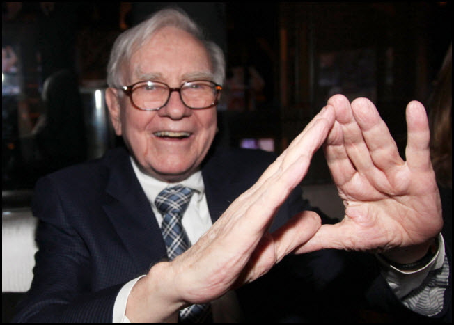 Buffett's stock could fall large percentage, should support give way!