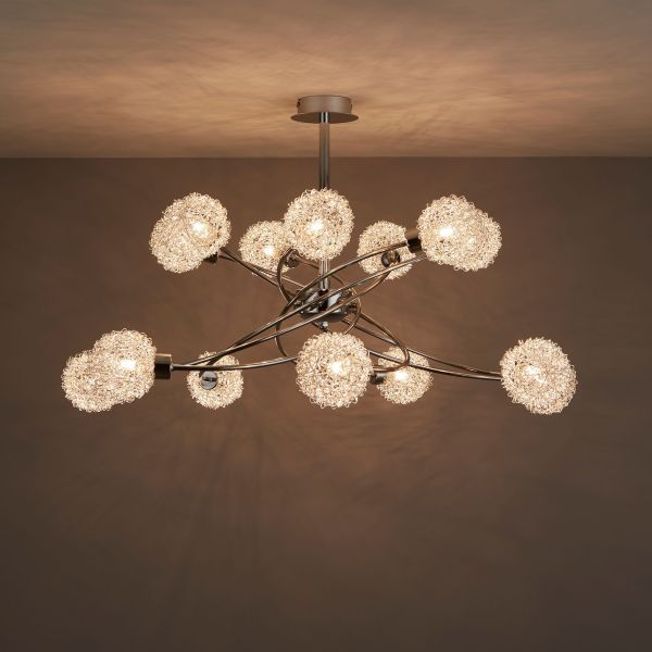 Flush Ceiling Lights   Indoor Lights Caelus Chrome effect 14 Lamp Ceiling light