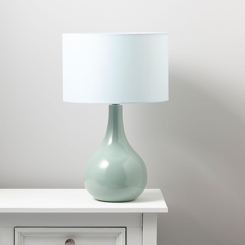 Portia Duck Egg Blue Table Lamp Departments Diy At B Amp Q
