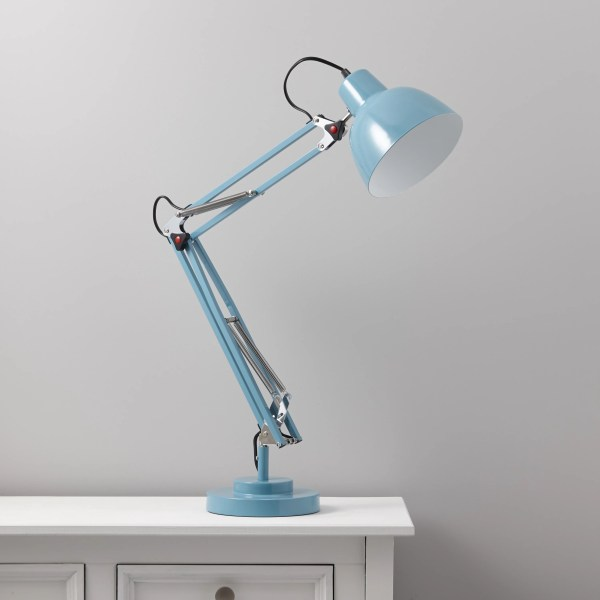 ISAAC Blue Desk lamp   Departments   DIY at B Q