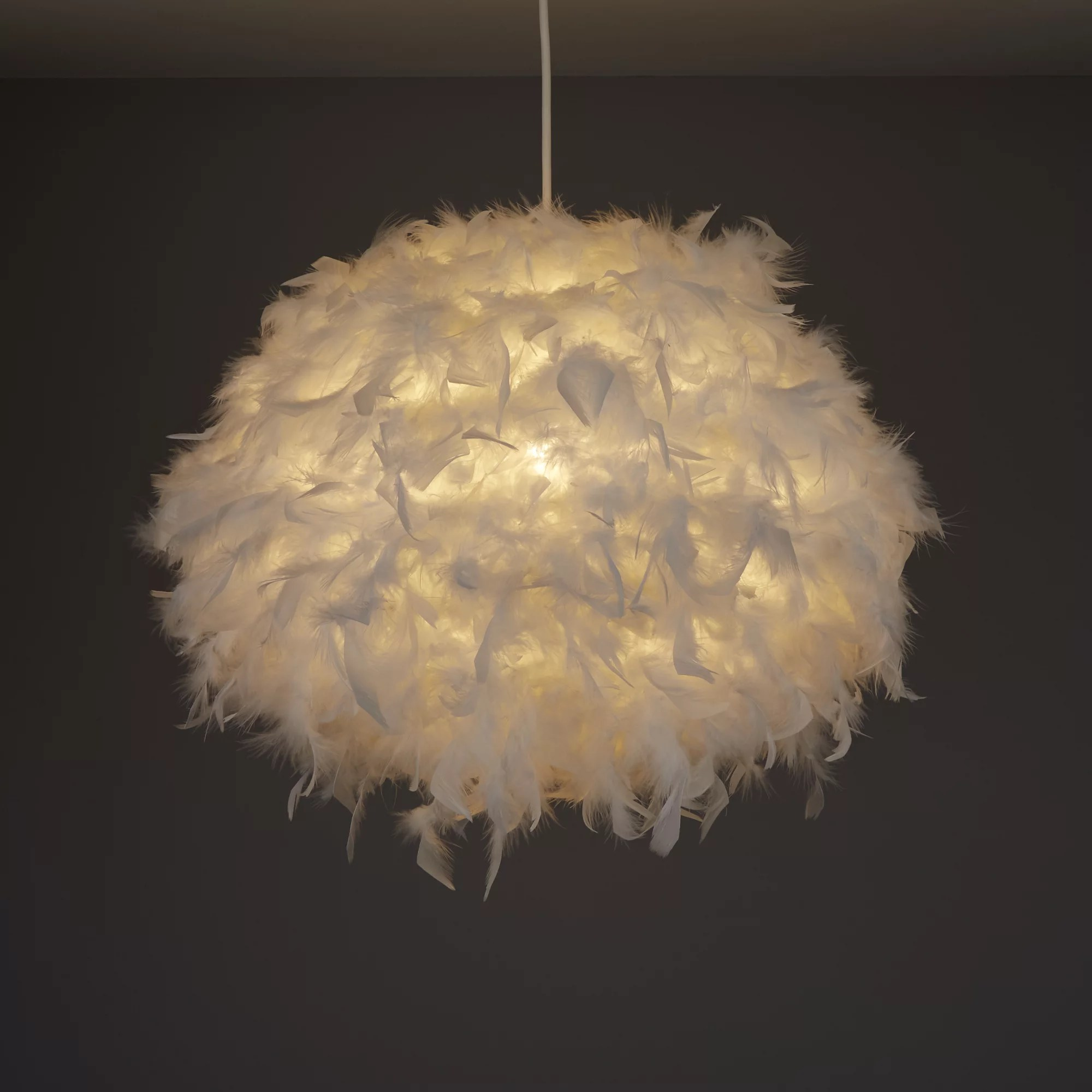 Colours Melito White Feather Ball Light Shade D 400mm