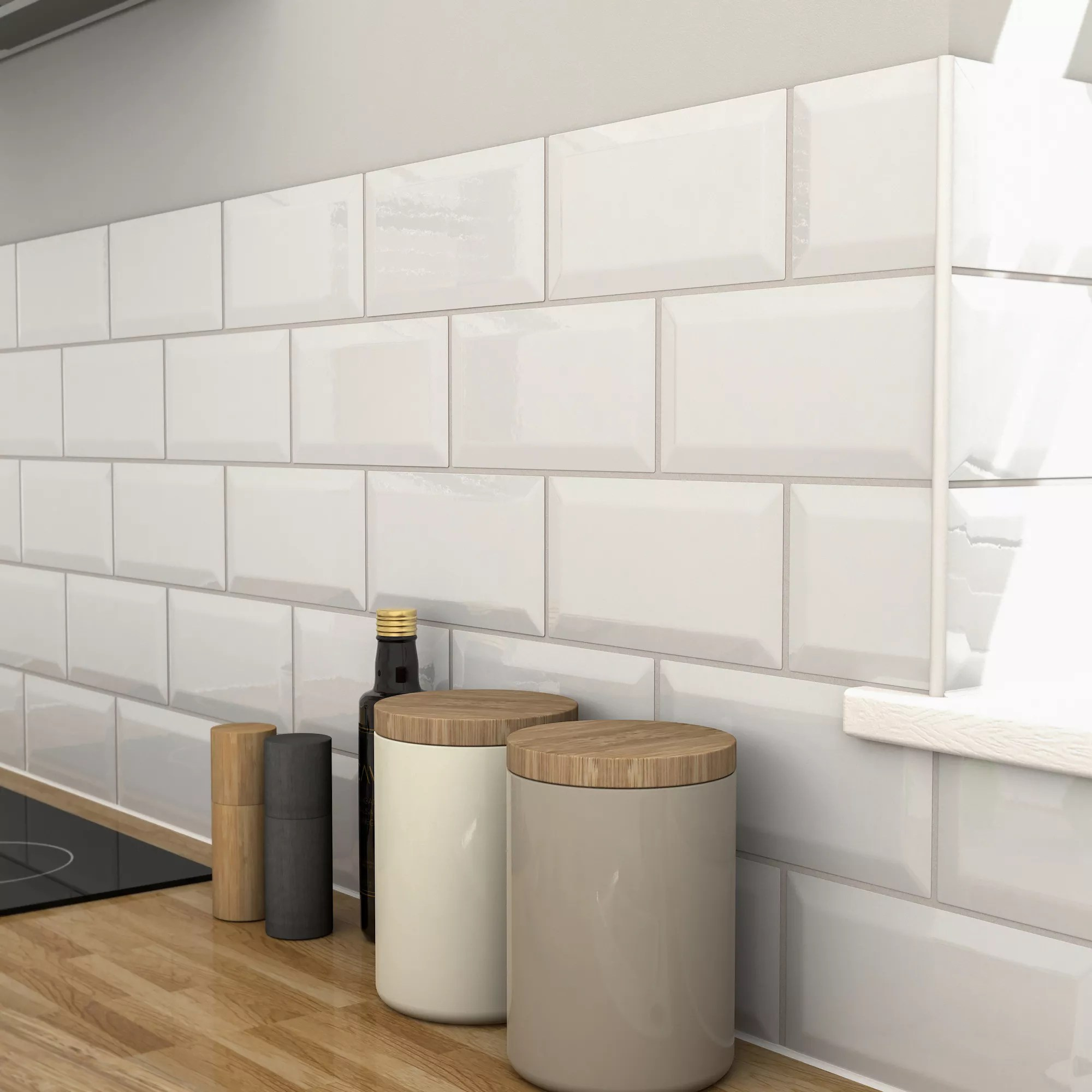 White Kitchen Wall Tiles