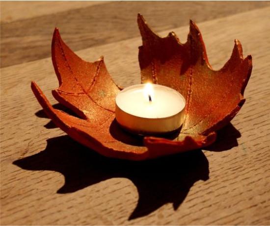 Chandelier d'automne en pâte polymère