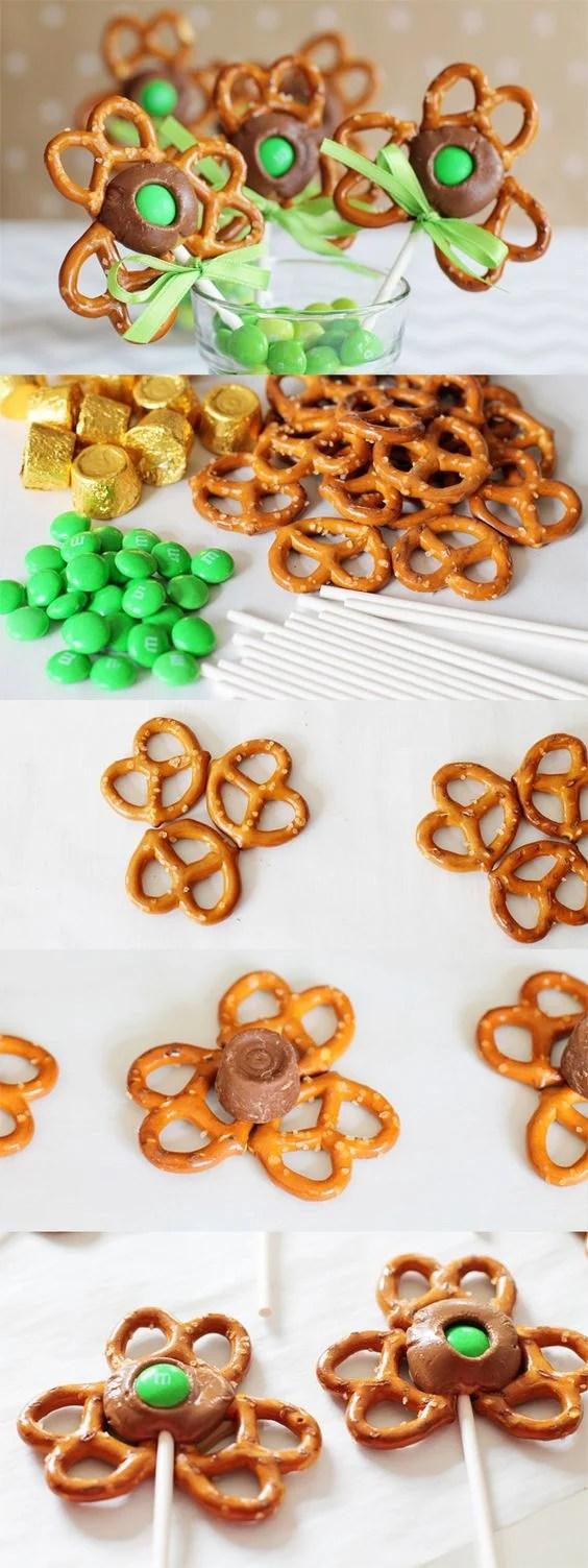 Shamrock Pretzel Rod Pops for a fun St. Patrick's Day treat!