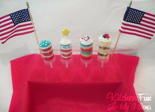 Patriotic Push Pops 4 Ways