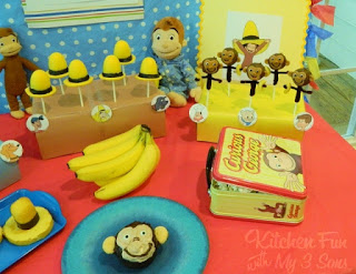 Curious George Party with LOTS of fun food ideas!