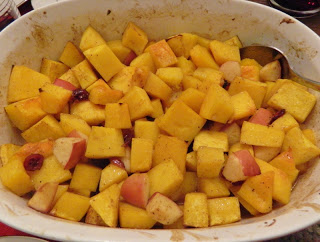 Holiday Butternut Squash with Cranberries & Apples