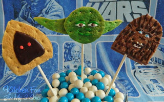 Jawa, Yoda, & Chewbacca all made out of S'mores