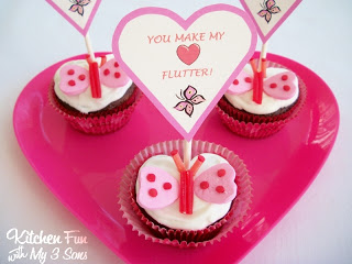 Valentine Butterfly Cupcakes