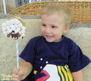 S'mores Sheep Pops
